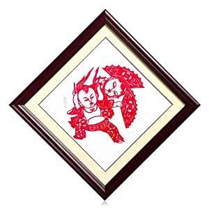 三古剪纸 剪纸艺术作品 民间工艺吉祥传统 福娃