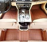 JuSaYo 车尚由 进口超纤皮革5层加厚高端汽车脚垫(立体高边高包围大包围全包围脚垫 摩卡棕色)-路虎揽胜(运动版)(上市年份2008~)专用-图片