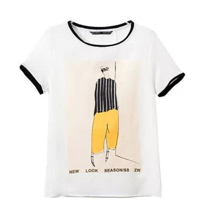 夏人物印花短袖t恤