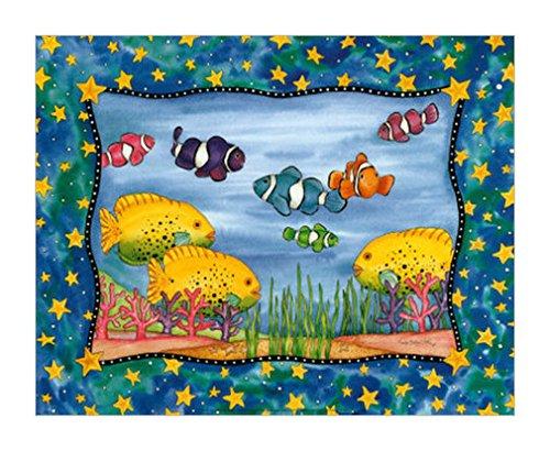鱼装饰画|儿童动物画|儿童专用产品|儿童装饰画|装饰画混搭风格|动物