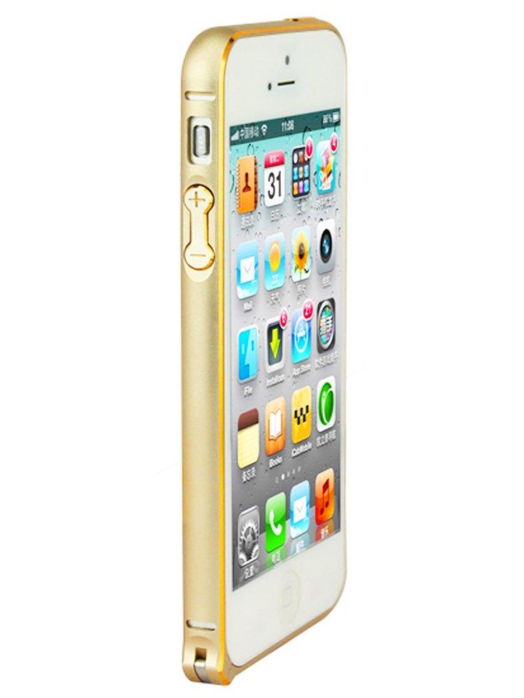 banvo圆弧iphone5/5s手机壳金色金属全新苹果海马高光扣边框v圆弧kone图片