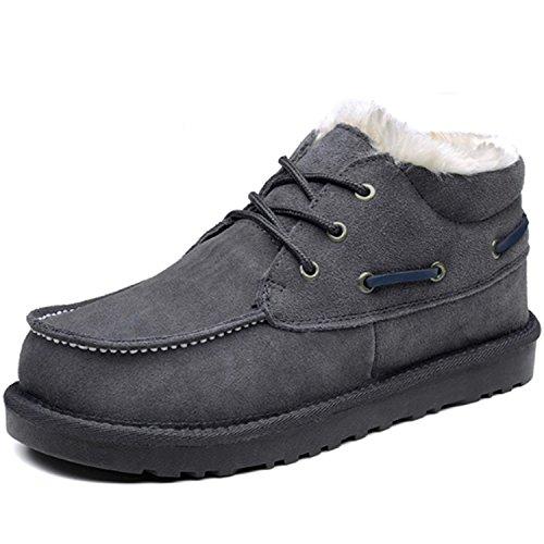 Guciheaven 古奇天伦 反绒牛皮加绒情侣雪地靴 保暖棉鞋棉靴 休闲短靴 高帮休闲靴