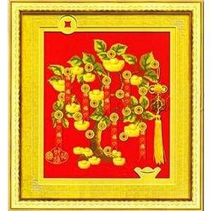 客厅卧室中国风书法字画财源滚滚 法国 十字绣 14CT 2股怎么样,好图片