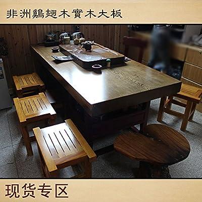 非洲鸡翅木实木大板/原木板桌/办公桌
