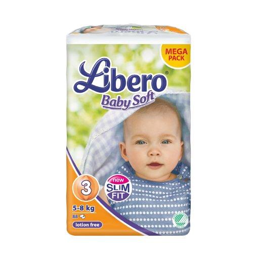 亚马逊中国 Libero 丽贝乐 婴儿纸尿裤 S,88片 149元包邮
