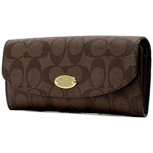 coach gray wallet  coach signature pop slim