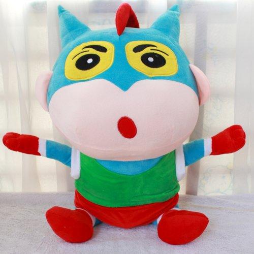 大眼猫 蜡笔小新毛绒玩具大象公仔 小新娃娃学生装 动感超人礼物 (40