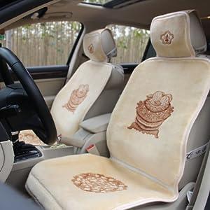 优途 汽车坐垫 纯羊毛座垫 车用仿手编织地毯式四季通用坐垫羊绒 聚宝