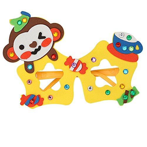幼儿童手工贴画diy制作材料3d立体粘生日玩具教材包 (猴子)