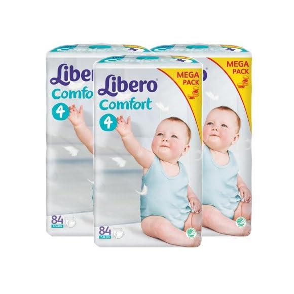 Libero丽贝乐瑞典进口纸尿裤M84片*3箱装 ¥429