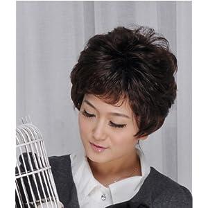 月儿 假发 y053 中老年女士短发 新款蓬松修脸短卷发图片