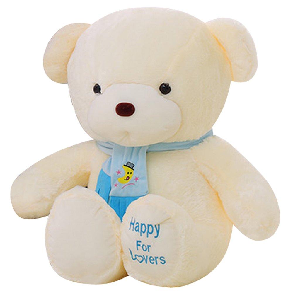 qumeng 趣萌 卡通动物毛绒玩具 熊 围巾熊 泰迪熊 抱抱熊公仔布娃娃