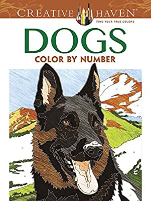 Creative Haven Dogs Color by Number Coloring Book.pdf