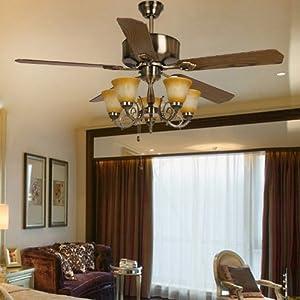 灯饰欧式家用吊扇灯带风扇的吊灯吸顶地