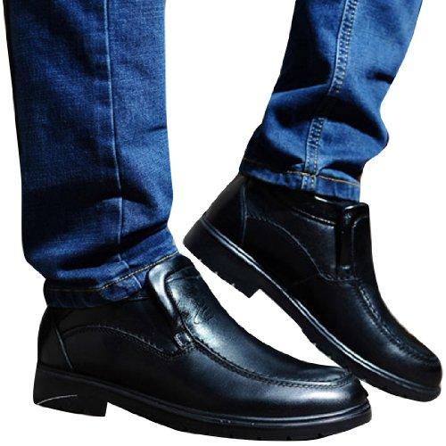 Camel 骆驼 冬季正品男式鞋高帮鞋休闲男鞋 韩版英伦保暖男皮鞋