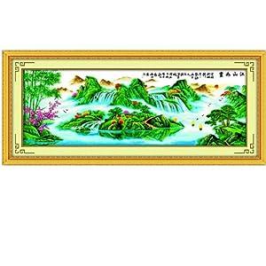 印象 精准印花十字绣 江山如画2 财源滚滚 MF098 尺寸246 89cm怎么图片