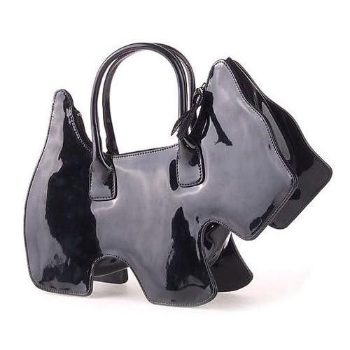 浪美手提包-韩版小狗形状-黑色-g2购物网