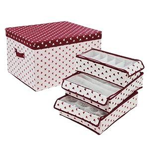 每日最便宜收纳箱-UPLUS 收纳三件套组+杂物收纳箱 亚马逊 38.7元