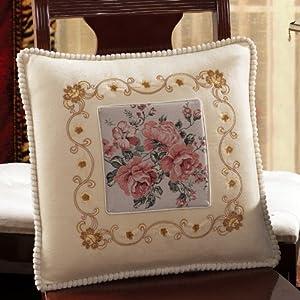 他唯她 家纺 办公室靠垫抱枕 沙发靠垫坐垫 欧式布艺抱枕椅垫 特价 55
