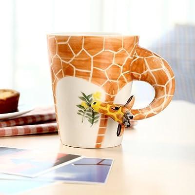 homee 纯手绘陶瓷动物杯 立体水杯 杯子 380g