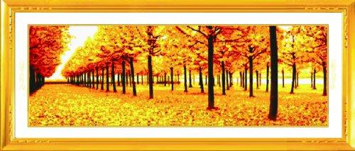 十字绣 风景 花卉-黄金满地富贵版(画格)