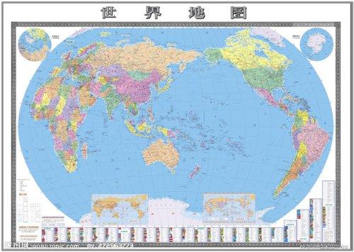世界地图1:33000000(星球?新世纪版)图片