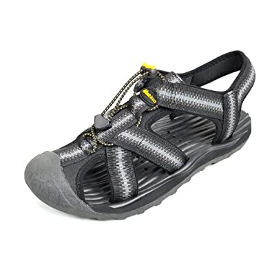 Makino 犸凯奴 户外沙滩鞋 男休闲凉鞋 0313 (黑棕/黑灰)
