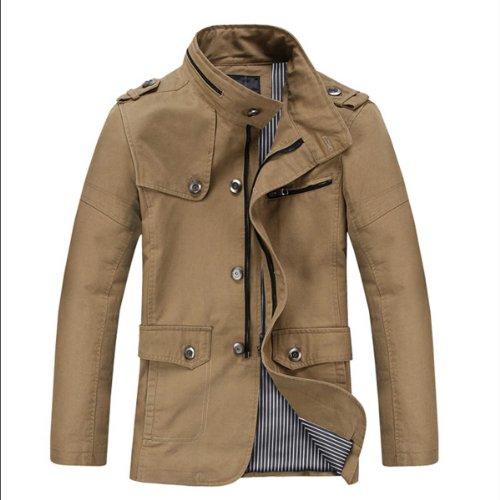 BJSD 次客文化 英伦风格新款时尚休闲男士冬款风衣 纯棉保暖夹克 加厚男外套 V1213
