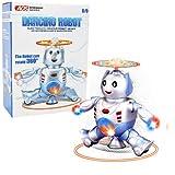 优贝乐 电动跳舞机器人 带灯光音乐机器人 360°旋转  电动玩具 音乐玩具-图片