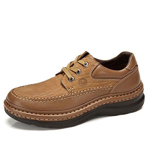 骆驼牌 男鞋正品男士日常休闲鞋磨砂真皮鞋摇摇潮鞋大码厚底男鞋子W432183010