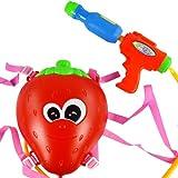 【网上城】 儿童大号高压喷水玩具水枪 草莓背包水枪 远射程 夏季户外沙滩戏水玩具-图片