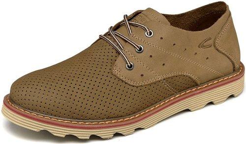 Camel Active 骆驼动感 时尚商务休闲皮鞋 户外休闲皮鞋 个性真皮冲孔透气男鞋 11B1308-1