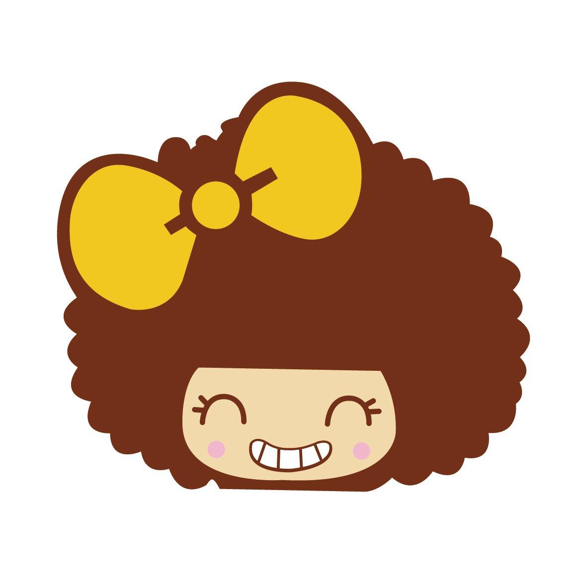 汽车贴纸 mocmoc 摩丝娃娃黄色蝴蝶结笑脸 汽车划痕贴 搞笑可爱卡通