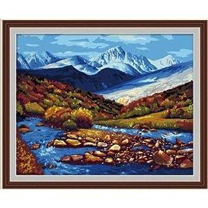 佳彩天颜 diy数字油画 手绘彩绘客厅风景装饰画 冰山河流 冰山河流 40