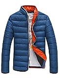 WHITEPAUL 怀特保罗 男士加厚加暖棉衣外套潮 立领棉服外套男X302XM65 XJXM110 (M, 蓝色)-图片