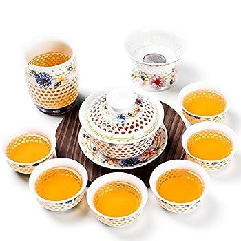 尚言坊 SDP292-2 玲珑瓷蜂巢茶具