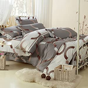 帝尚 韓版床罩式全棉四件套(1.5米款床罩) 歐式風 雨後小調