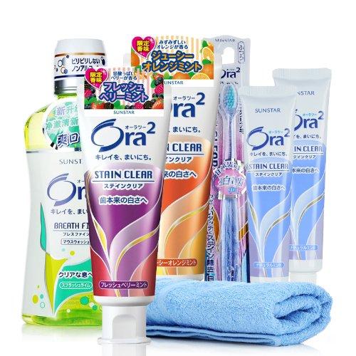 Ora2 皓乐齿 牙刷牙膏 漱口水 组合 牙膏 牙刷 漱