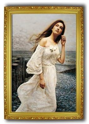 欧式有框画美女人物画