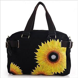女士包包 三用女包 帆布包 手绘包 灿烂向日葵 手绘帆布包包 m-eb200