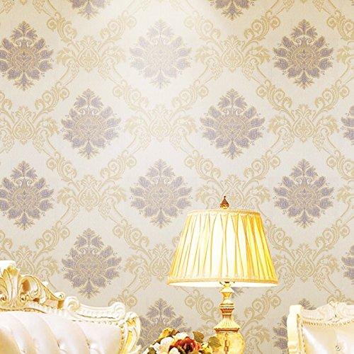 绿泇 无缝墙布 简欧电视背景墙客厅卧室餐厅壁布简约欧式 定高2.