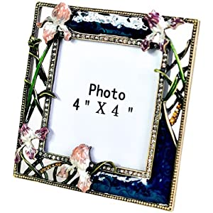 逸品轩玫瑰花方形金属相框