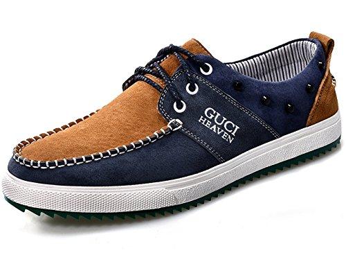 Guciheaven 古奇天伦 英伦时尚休闲驾车鞋 头层猪皮男鞋 真皮拼接鞋 低帮男鞋 日常休闲鞋
