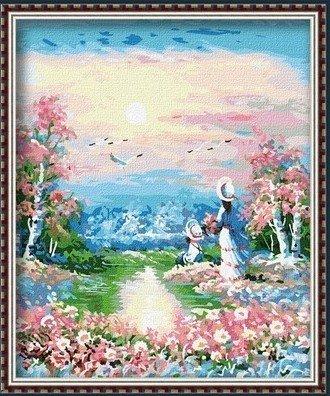 客厅风景情侣手绘装饰画