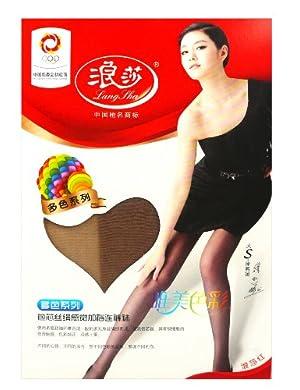 白菜控:LangSha浪莎多色系列包芯丝绢感觉加裆连裤袜,5元包邮