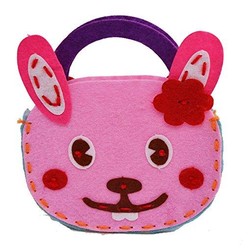 孩派 幼儿园手工制作 儿童diy手工材料 无纺布不织布 手工包包 (兔子)