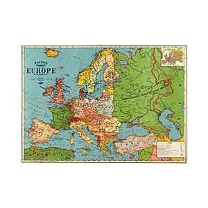 艺术海报—欧洲地图3