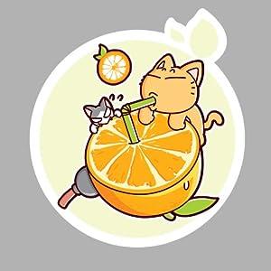 皮揣子猫 动漫原创 橘子图案