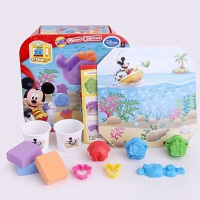 迪士尼3d打印机 海底世界打印泥 橡皮泥彩泥 儿童益智