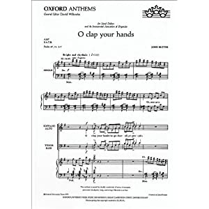 o clap your hands: vocal score [活页乐谱]